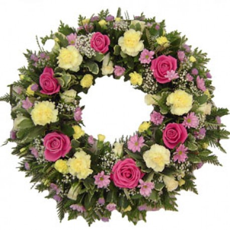 Florists choice mixed wreath
