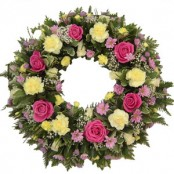 Florists choice mixed wreath